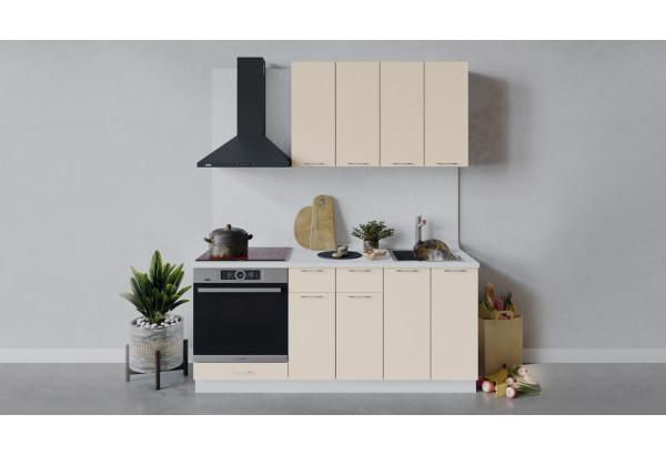Кухонный гарнитур «Весна» длиной 180 см со шкафом НБ (Белый/Ваниль глянец) - фото 1