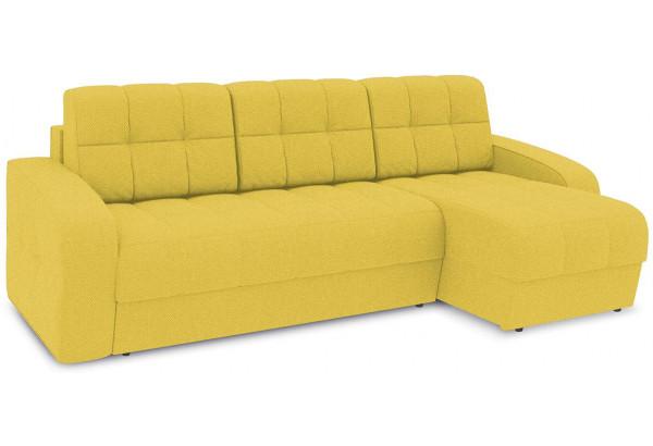 Диван угловой правый «Аспен Т1» (Neo 08 (рогожка) желтый) - фото 1