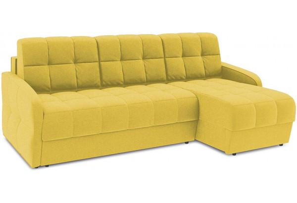 Диван угловой правый «Аспен Slim Т1» (Neo 08 (рогожка) желтый) - фото 1