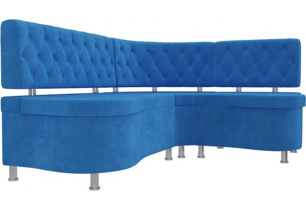 Кухонный угловой диван Вегас Голубой (Велюр) - фото 3