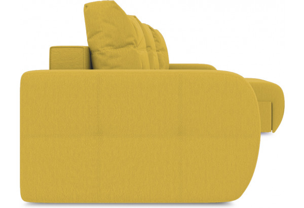 Диван угловой правый «Томас Slim Т1» (Poseidon Curcuma (иск.замша) желтый) - фото 3