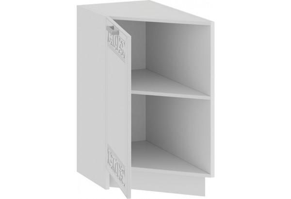 Шкаф напольный торцевой с одной дверью «Долорес» (Белый/Сноу) - фото 2