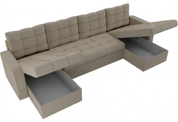 П-образный диван Ливерпуль Бежевый (Микровельвет) - фото 5