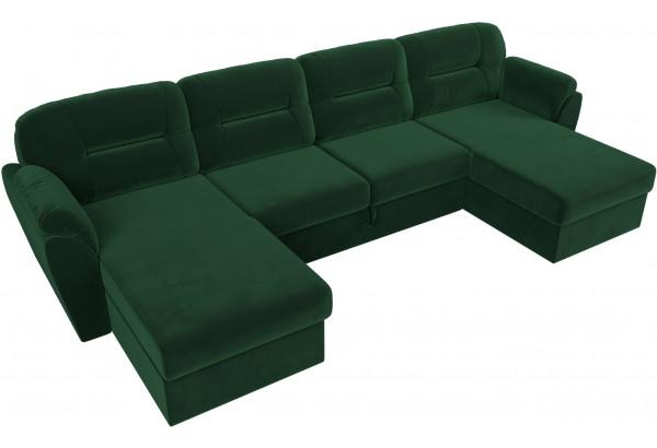 П-образный диван Бостон Зеленый (Велюр) - фото 5