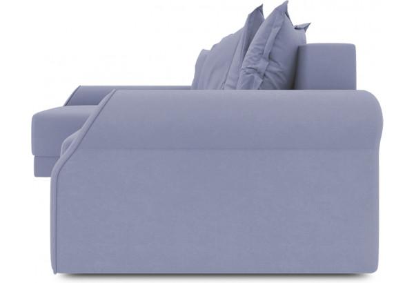 Диван угловой левый «Люксор Т2» (Poseidon Blue Graphite (иск.замша) серо-фиолетовый) - фото 3