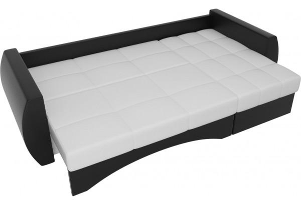 Угловой диван Сатурн Белый/Черный (Экокожа) - фото 6