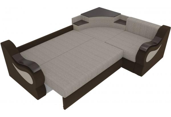 Угловой диван Митчелл Корфу 02/коричневый (Корфу/Микровельвет) - фото 7