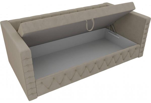 Детская кровать Таранто Бежевый (Микровельвет) - фото 5