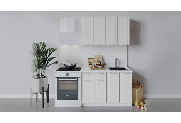 Кухонный гарнитур «Ольга» длиной 120 см (Белый/Белый) - фото 1