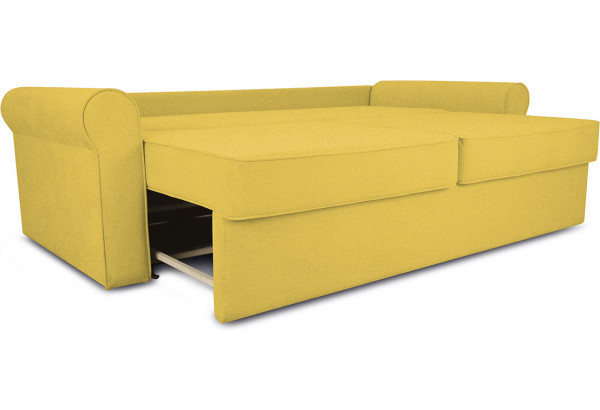 Диван «Шерри» Maserati 11 (велюр) желтый, подушки Tiffany laguna (шинил) морская волна - фото 6