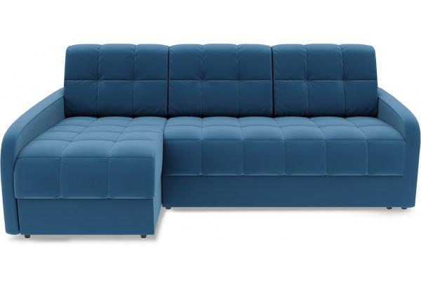 Диван угловой левый «Аспен Slim Т2» (Beauty 07 (велюр) синий) - фото 2