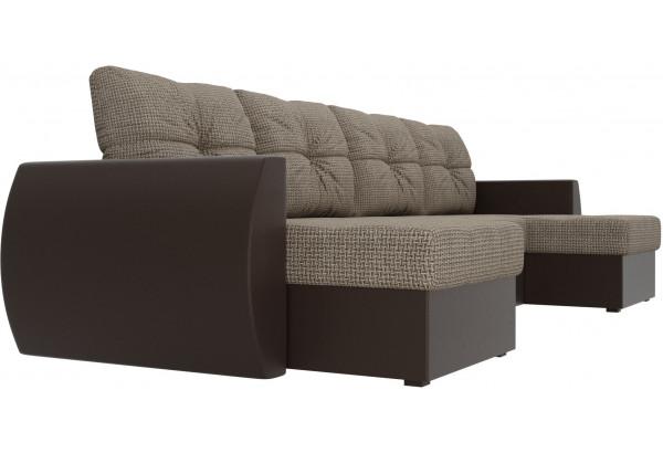 П-образный диван Сатурн Корфу 03/коричневый (Корфу/экокожа) - фото 3