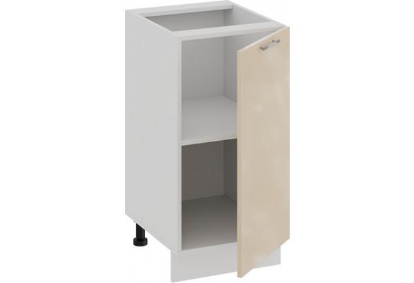 Шкаф напольный с одной дверью «Весна» (Белый/Ваниль глянец) - фото 2