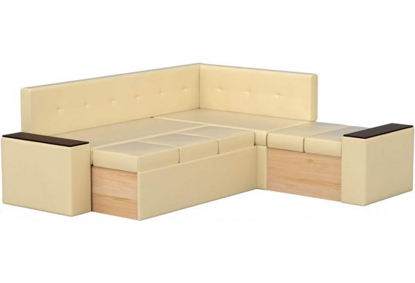 Кухонный угловой диван Остин Бежевый (Экокожа) - фото 3