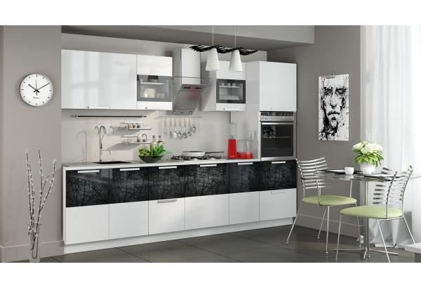 Кухонный гарнитур длиной - 300 см (с пеналом ПБ) Фэнтези (Белый универс)/(Лайнс) - фото 2
