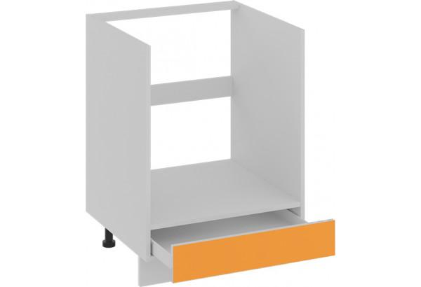 Шкаф напольный под бытовую технику с 1-м ящиком (БЬЮТИ (Оранж)) - фото 2