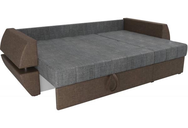 Угловой диван Атлантида У/Т Серый/коричневый (Рогожка) - фото 6