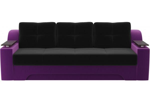 Диван прямой Сенатор черный/фиолетовый (Микровельвет) - фото 2