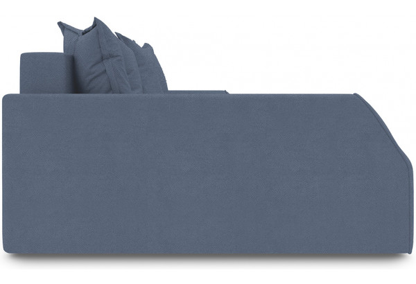 Диван угловой левый «Люксор Slim Т2» Maserati 21 (велюр), серо-синий - фото 5