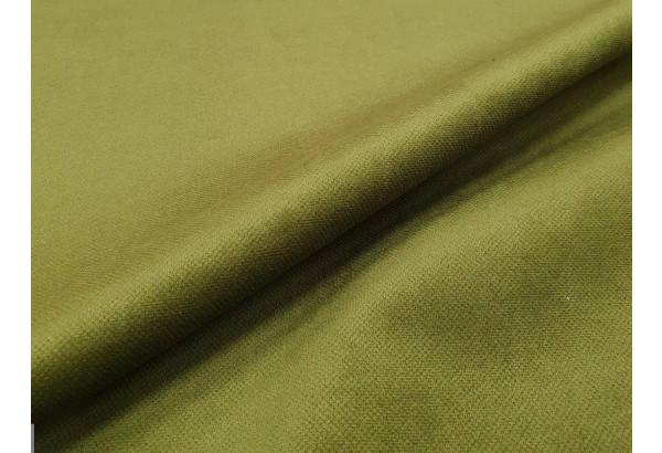 Прямой диван Монако зеленый/коричневый (Микровельвет/Экокожа/флок на рогожке) - фото 9