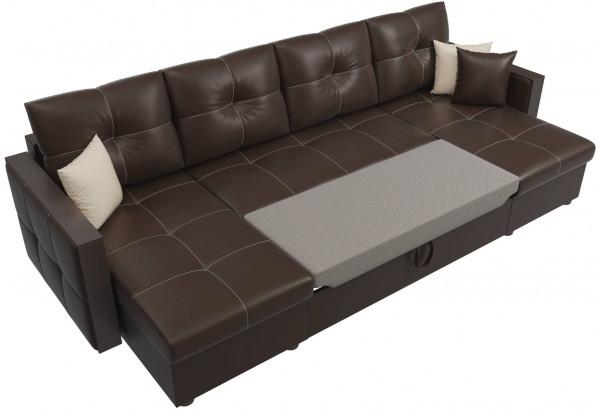 П-образный диван Валенсия Коричневый (Экокожа) - фото 6