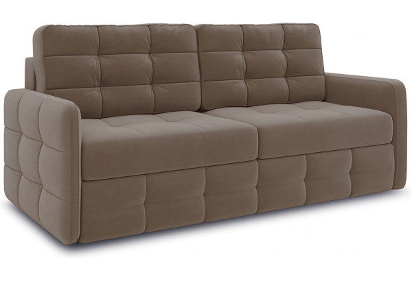 Диван «Райс Slim» Kolibri Mocco (велюр) коричневый - фото 1