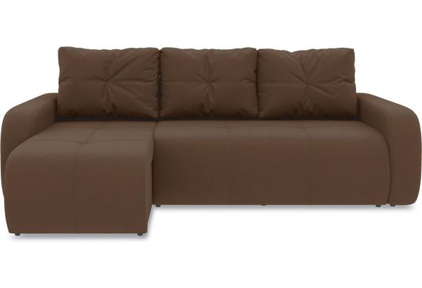 Диван угловой левый «Томас Т1» Beauty 04 (велюр) коричневый - фото 2
