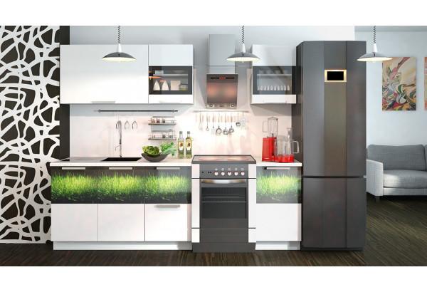 Кухонный гарнитур длиной - 240 см Фэнтези (Белый универс)/(Грасс) - фото 2