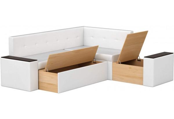 Кухонный угловой диван Остин Белый (Экокожа) - фото 2