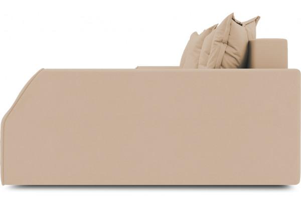 Диван угловой правый «Люксор Slim Т2» (Poseidon Caramel (иск.замша) карамельный) - фото 5