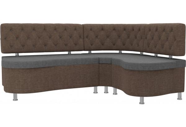 Кухонный угловой диван Вегас Серый/коричневый (Рогожка) - фото 1