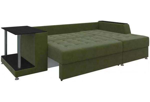Угловой диван Атланта Зеленый (Микровельвет) - фото 4