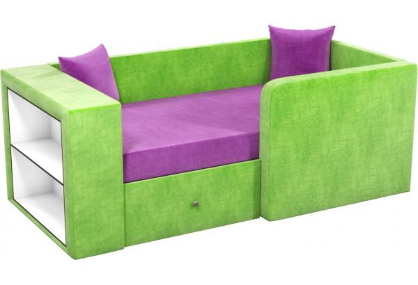 Детский диван Орнелла фиолетовый/зеленый (Микровельвет) - фото 1