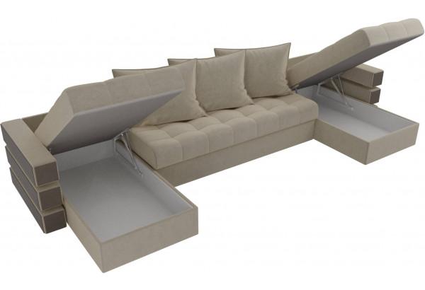 П-образный диван Венеция Бежевый (Микровельвет) - фото 5