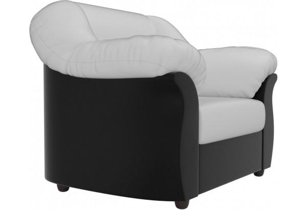 Кресло Карнелла Белый/Черный (Экокожа) - фото 3