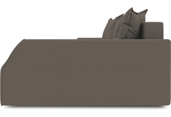 Диван угловой правый «Люксор Slim Т2» (Poseidon Coffee (иск.замша) коричневый) - фото 5