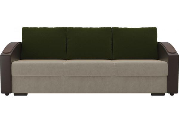 Прямой диван Монако slide бежевый/коричневый (Микровельвет/Экокожа) - фото 2