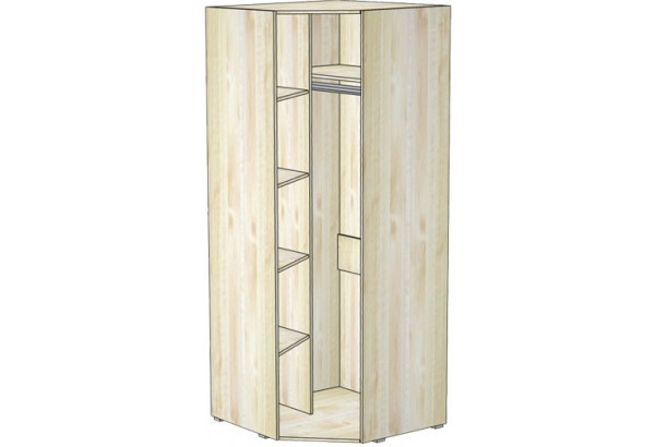 Шкаф для одежды угловой с зеркалом 8.05А - фото 2