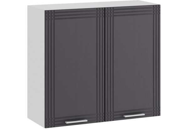 Шкаф навесной c двумя дверями «Ольга» (Белый/Графит) - фото 1