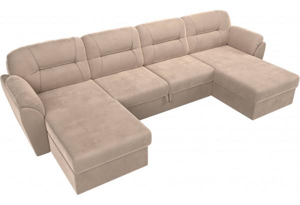 П-образный диван Бостон Бежевый (Велюр) - фото 5