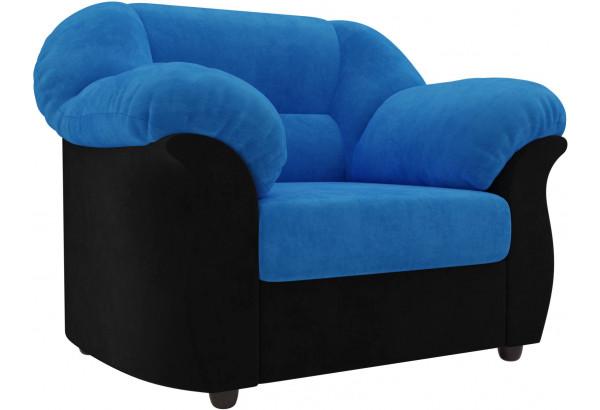 Кресло Карнелла голубой/черный (Велюр) - фото 1