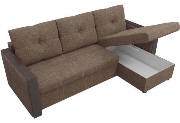Угловой диван Валенсия Коричневый (Рогожка) - фото 5
