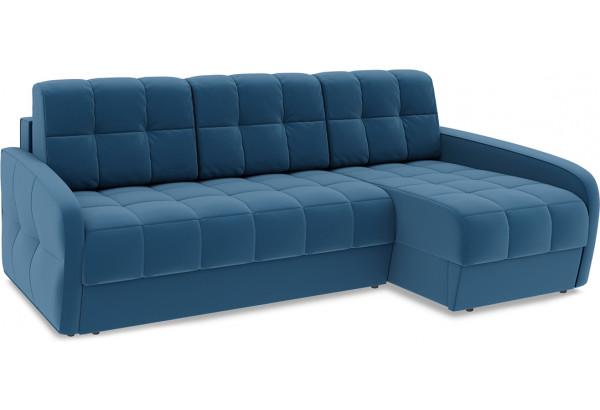 Диван угловой правый «Аспен Slim Т2» (Beauty 07 (велюр) синий) - фото 1