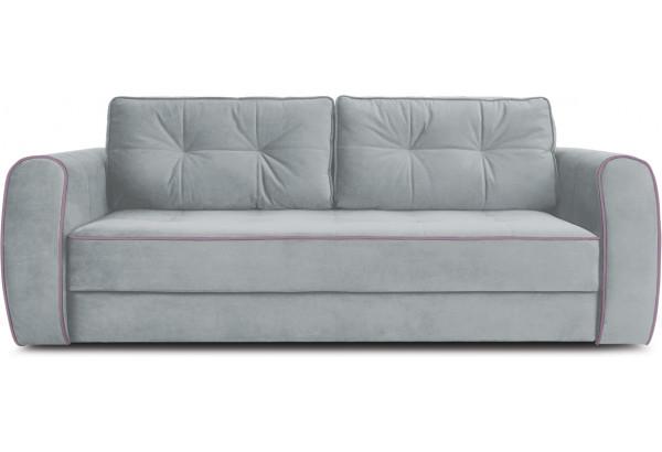 Диван «Хьюго» (Fenix Silver (микровелюр) Светло - серый кант Fenix Lilac (микровелюр) Лиловый) - фото 2
