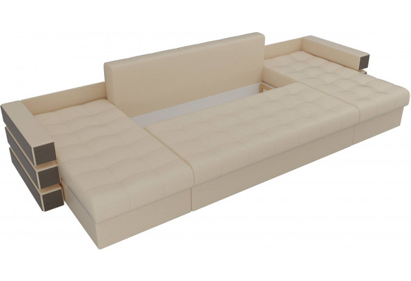 П-образный диван Венеция Бежевый (Экокожа) - фото 6