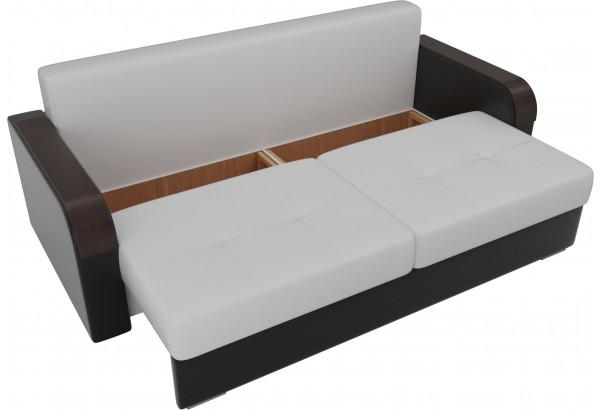 Прямой диван Мейсон Белый/Черный (Экокожа) - фото 5