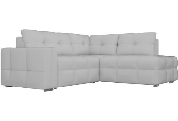 Угловой диван Леос Белый (Экокожа) - фото 3
