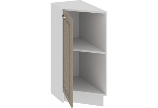 Шкаф напольный торцевой с одной дверью «Бьянка» (Белый/Дуб кофе) - фото 2