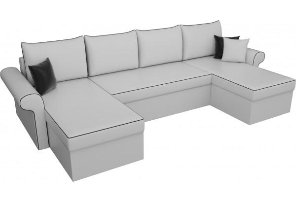 П-образный диван Милфорд Белый (Экокожа) - фото 4