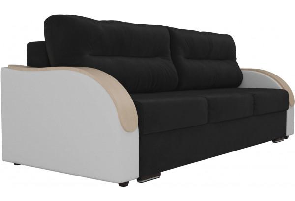 Прямой диван Дарси Черный/Белый (Велюр/Экокожа) - фото 3